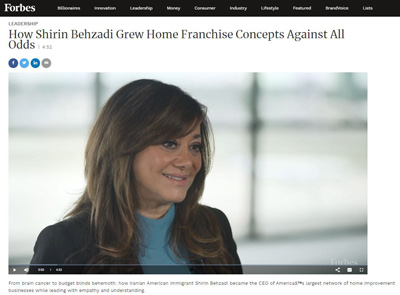 Shirin Behzadi CEO Home Franchise Concepts